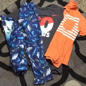 Boys 10/12 Bundle Shark PJs Polo Nike Old Navy